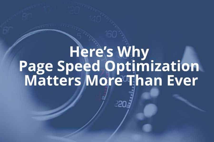 pagespeed optimization matters